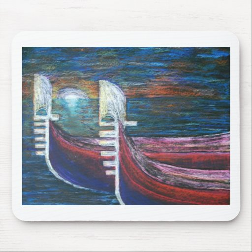 gondolas at sunset mouse pads