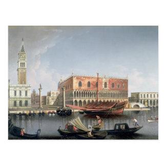 Gondolas before St Marks Square Venice Post Cards