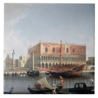 Gondolas before St. Marks Square, Venice Tile