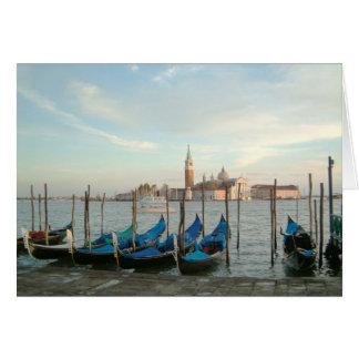 gondolas evening greeting card
