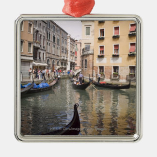 Gondolas in a canal, Venice, Italy Christmas Ornament