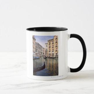 Gondolas in a canal, Venice, Italy Mug
