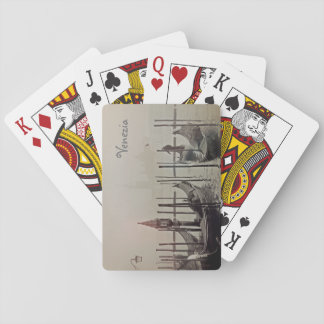 Gondolas in the fog, Venice, Italy Playing Cards