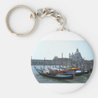 Gondolas in the Grand Canal, Venice, Italy Key Ring