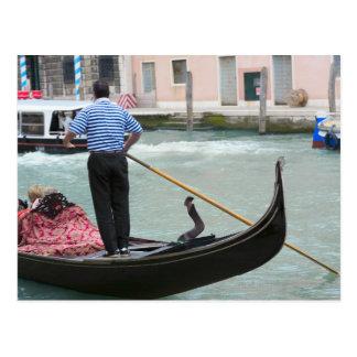 Gondolas in Venice canal Postcard