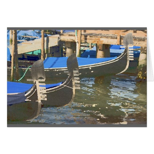 Gondolas in Venice, Italy Card