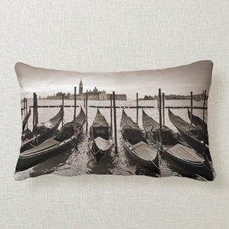 Gondolas in Venice Lumbar Cushion