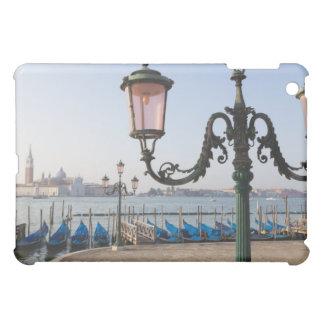 Gondolas moored on the Lagoon looking towards iPad Mini Covers