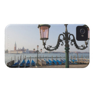 Gondolas moored on the Lagoon looking towards iPhone 4 Case-Mate Case