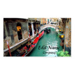 Gondolas on a Venetian canal Pack Of Standard Business Cards