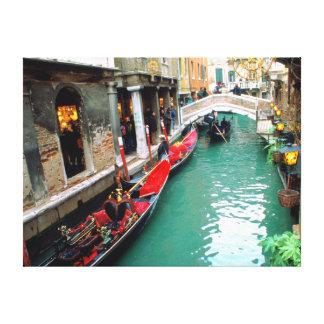 Gondolas on a Venetian Canal Canvas Print