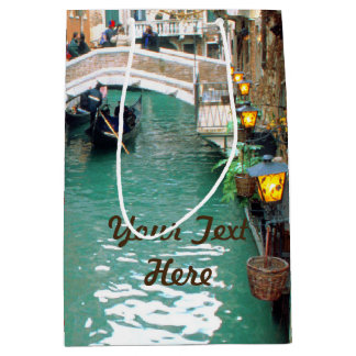 Gondolas on a Venetian canal Medium Gift Bag