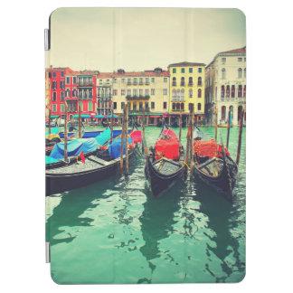 Gondolas On Grand Canal, Venice, Italy. Retro iPad Air Cover