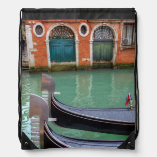 Gondolas on the Grand Canal, Venice Drawstring Bag
