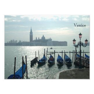 Gondolas on the Grand Canal Venice Photograph