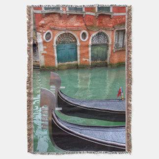 Gondolas on the Grand Canal, Venice Throw Blanket