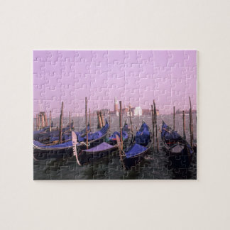 Gondolas ready for tourists in Venice Italy Jigsaw Puzzle