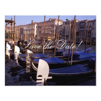 Gondolas Save-the-Date Cards 11 Cm X 14 Cm Invitation Card