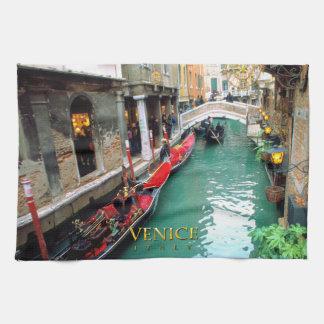 Gondolas- Venice, Italy Tea Towel