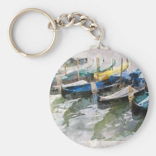 gondolas venice travel basic round button key ring
