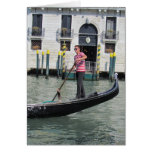 Gondolier and Gondola in Venice, Italy Greeting Card