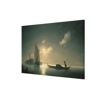 Gondolier at Sea by Night, 1843 Canvas Print