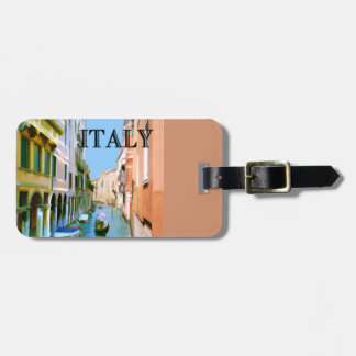 Gondolier in Canal in Venice ITALY Luggage Tag