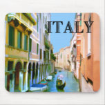 Gondolier in Canal in Venice ITALY Mouse Mats