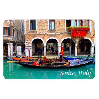 Gondolier in Cannaregio Rectangular Photo Magnet
