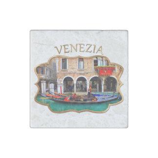 Gondolier in Cannaregio Stone Magnet