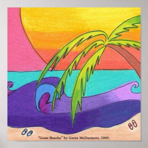 Gone Beachy Poster Print