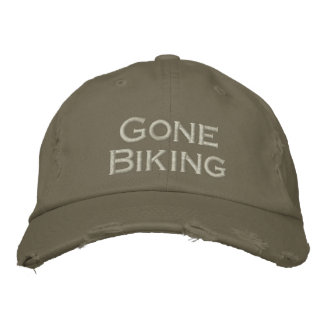 Gone biking cool sports hat embroidered hats