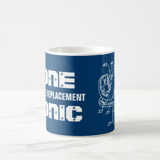 """GONE BIONIC Total Knee Replacement"" Blueprint Mug"