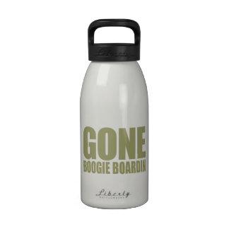 GONE BOOGIE BOARDING Meme - Khaki Beige Water Bottles