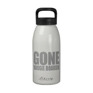 GONE BOOGIE BOARDING Meme - Old Silver Water Bottle