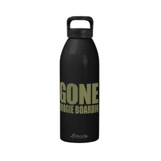 GONE BOOGIE BOARDING Meme - Sand Khaki Water Bottle