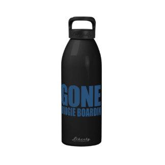 GONE BOOGIE BOARDING Meme - Sapphire Blue Water Bottles