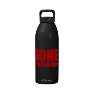 GONE BOOGIE BOARDING Meme - Venetian Red Water Bottle