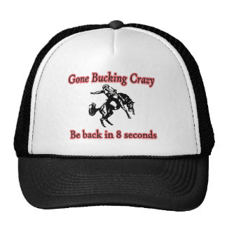 Gone bucking bronc crazy cap