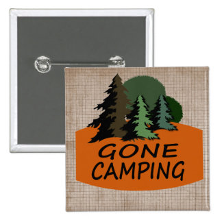 Gone Camping Pinback Button