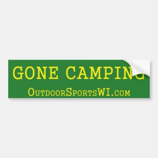 Gone Camping Bumper Green Bumper Sticker