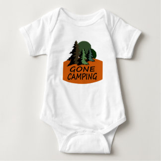 Gone Camping Happy Camper Baby Bodysuit