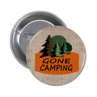 Gone Camping Outdoor Sports 6 Cm Round Badge
