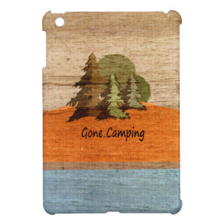 Gone Camping Wood Look Nature Lovers iPad Mini Cases