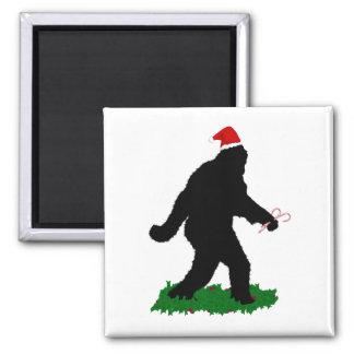 Gone Christmas , Gone Squatchin' Square Magnet