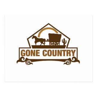 Gone Country - Country Living Postcard