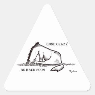 Gone Crazy Triangle Sticker