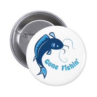 Gone Fishin 6 Cm Round Badge