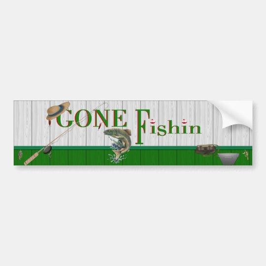 Gone Fishin Bumper Sticker