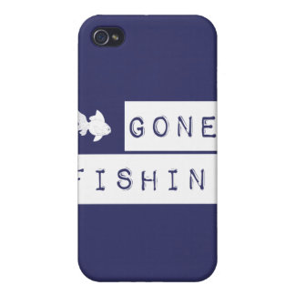 Gone Fishin' (custom colors) iPhone 4 Cover
